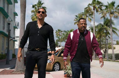 "Sony Pictures shows Martin Lawrence, right, and Will Smith in a scene from ""Bad Boys for Life."""