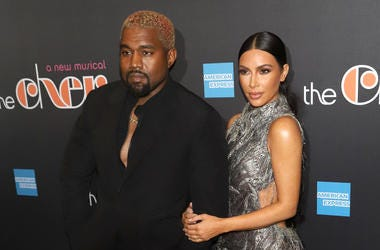 """Kanye West and Kim Kardashian West attend the opening night of """"The Cher Show"""" on Broadway at the Neil Simon Theatre in New York."""
