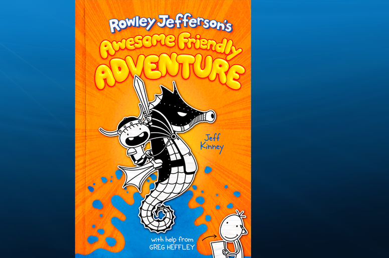 """This photo provided by Abrams Children's Books shows the cover of """"Rowley Jefferson's Awesome Friendly Adventure."""" Amulet Books announced Thursday, Feb. 13, 2020, that Jeff Kinney's latest novel comes out April 7, 2020."""