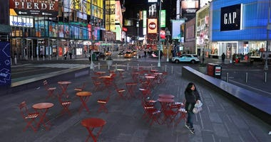 Times Square during the coronavirus