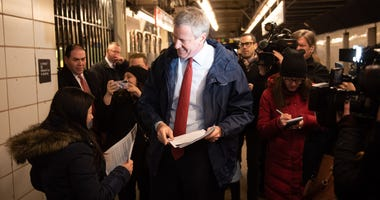 Mayor Bill de Blasio Subway