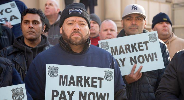 NYPD Fair Pay rally