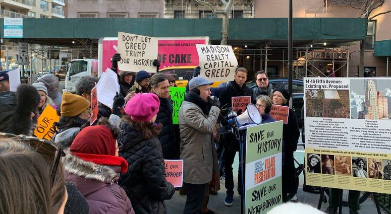 Greenwich Village protest