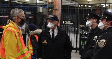 Subway MTA Shutdown - NYPD