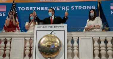 Cuomo rings opening bell