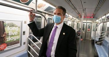 Gov. Cuomo rides subway