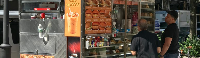 Food cart in New York City.