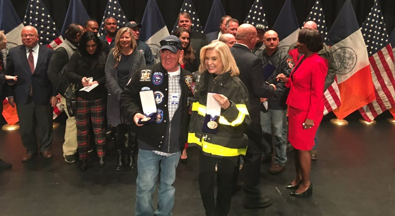 John Feal and Carolyn Maloney