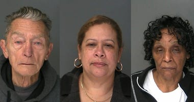 James LaGreca, Anneris Contreras and Auga Roberts mugshots