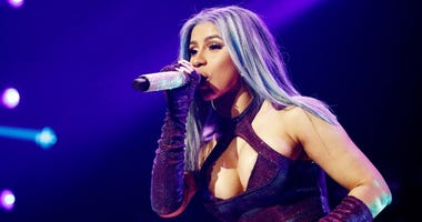 Cardi B performs onstage at the STAPLES Center