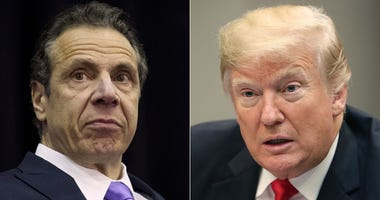 Andrew Cuomo and President Trump