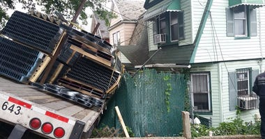 Truck Crashes Into Staten Island Homes