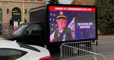 Capt. Ken Noonan protest truck