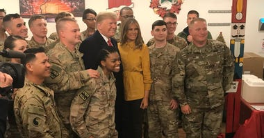 President Trump visits troops in Iraq