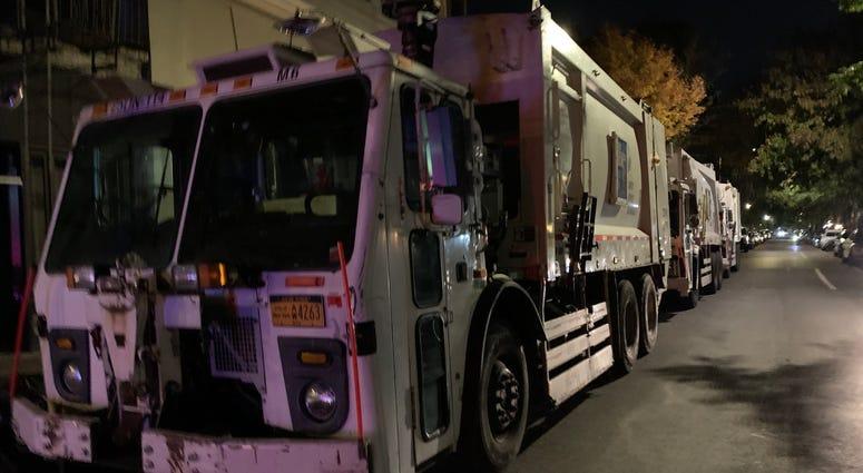 East Village garbage trucks