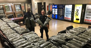 NYPD post with 106 pounds of marijuana