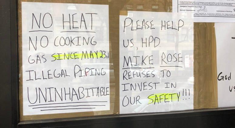 No heat in building