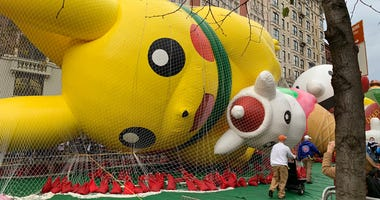 Macy's Thanksgiving Day Parade Balloon Inflation