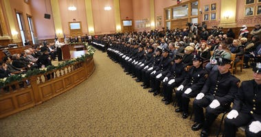 Jersey City police swearing in