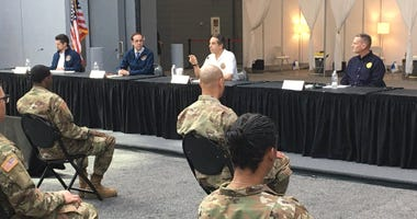 Andrew Cuomo with National Guard