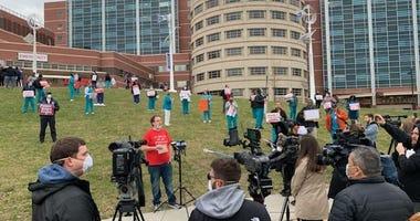 Nurses protest outside of Jacobi Medical Center
