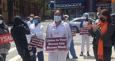 Nurses rally in Brooklyn