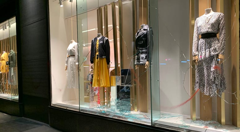 Looted Kate Spade Store