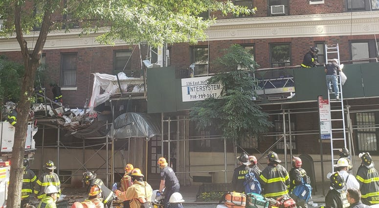Scaffolding Collapse In Midtown