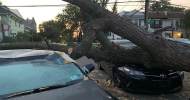 Isaias Damage In Woodhaven, Queens