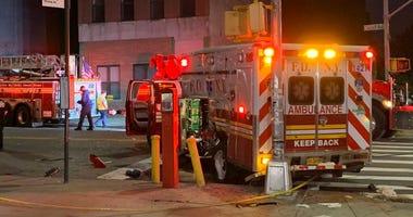 Fire truck ambulance collide Brooklyn