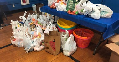 Food donations at Plainview Mid Island Y JCC