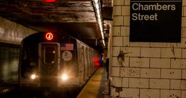 New York city J subway train