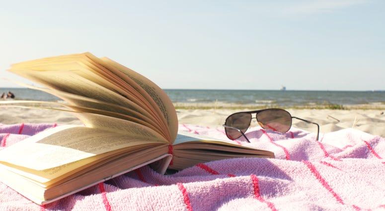 Book on a beach
