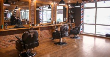 Mostly empty barbershop