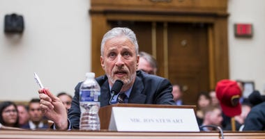 Former Daily Show Host Jon Stewart testifies during a House Judiciary Committee hearing on reauthorization of the September 11th Victim Compensation Fund on Capitol Hill on June 11, 2019