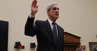 Former Special Counsel Robert Mueller is sworn in before testifying to the House Judiciary Committee about his report on Russian interference in the 2016 presidential election in the Rayburn House Office Building July 24, 2019 in Washington, DC.