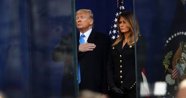 President Trump Attends New York City's Veterans Day Parade