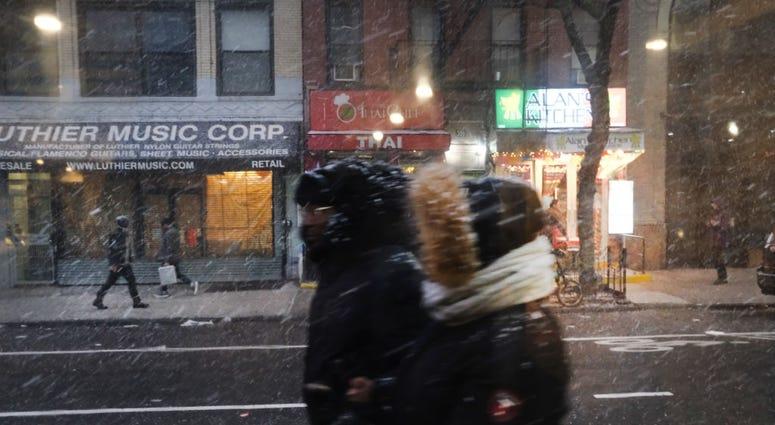 Wintery Weather New York City (Snow/Rain)