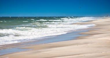 A beach on Long Island