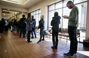 Voters take part in the Nevada caucuses