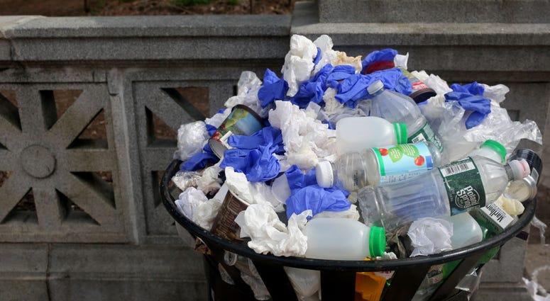 New York City trash can
