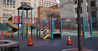 Empty playground coronavirus