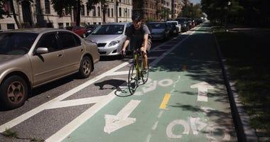 Protected bike lane