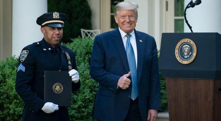 President Donald Trump with Spencer Garrett