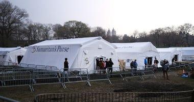 Emergency Hospital Setup In Central Park