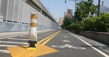 Bike path in Manhattan