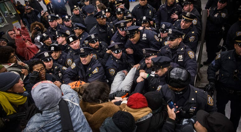 Subway protest NYPD