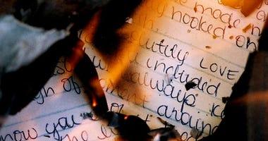 Burning love letter