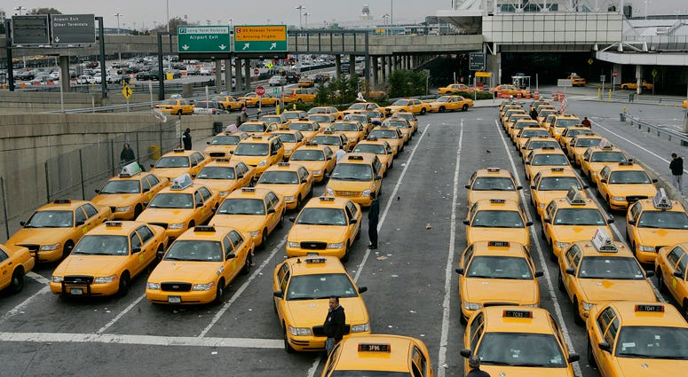 Taxis at LaGuardia Airport