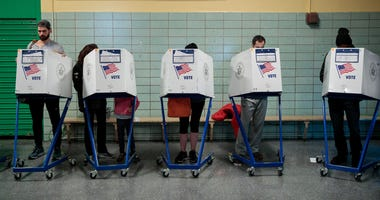 NYC voting booth